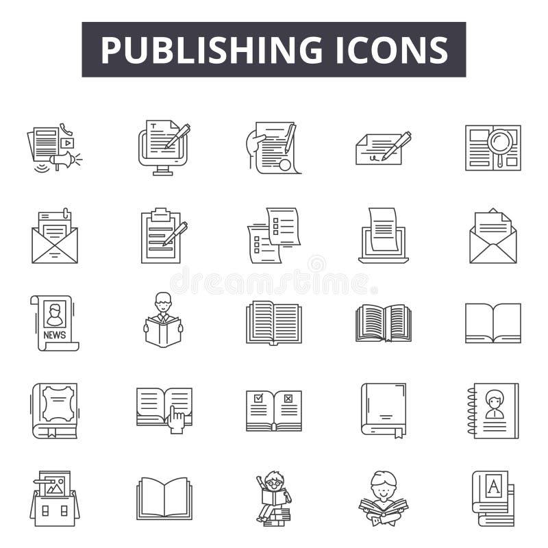 Ligne de édition icônes, signes, ensemble de vecteur, concept d'illustration d'ensemble illustration de vecteur