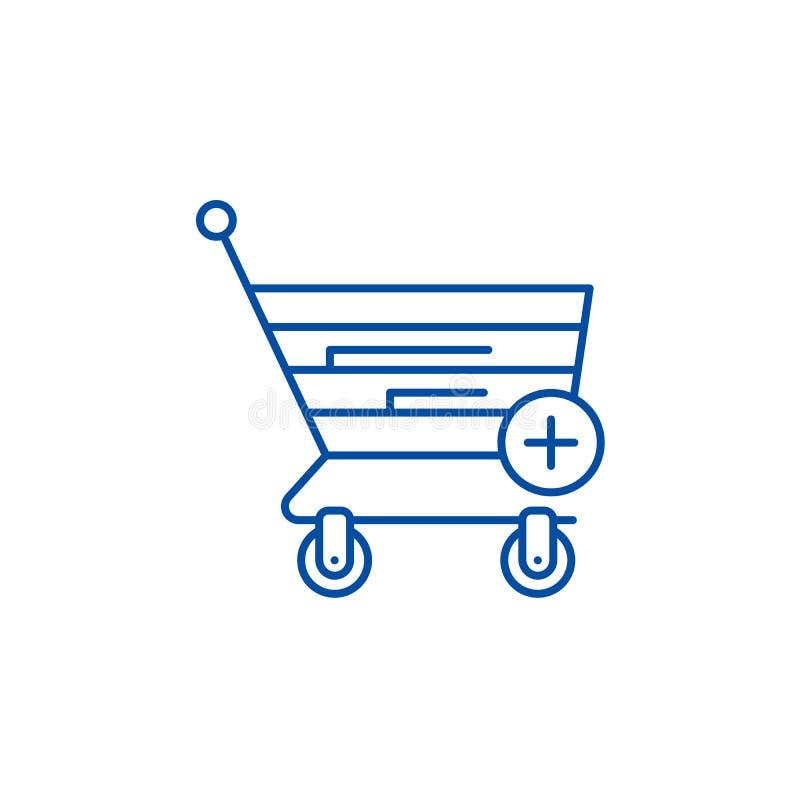 Ligne de achat en ligne concept d'icône Symbole plat de achat en ligne de vecteur, signe, illustration d'ensemble illustration de vecteur