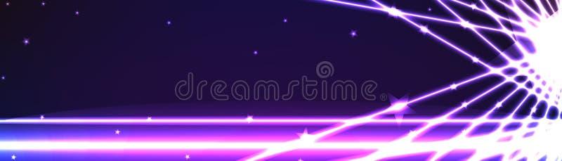 Ligne de bannière l'espace d'effet de la lumière illustration stock