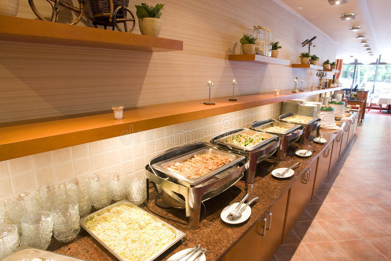 ligne de buffet photo libre de droits