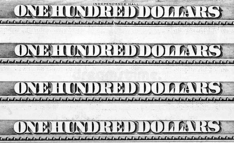 Ligne de cents dollars de billets de banque photo stock