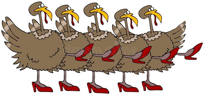 Ligne de choeur de la Turquie illustration de vecteur