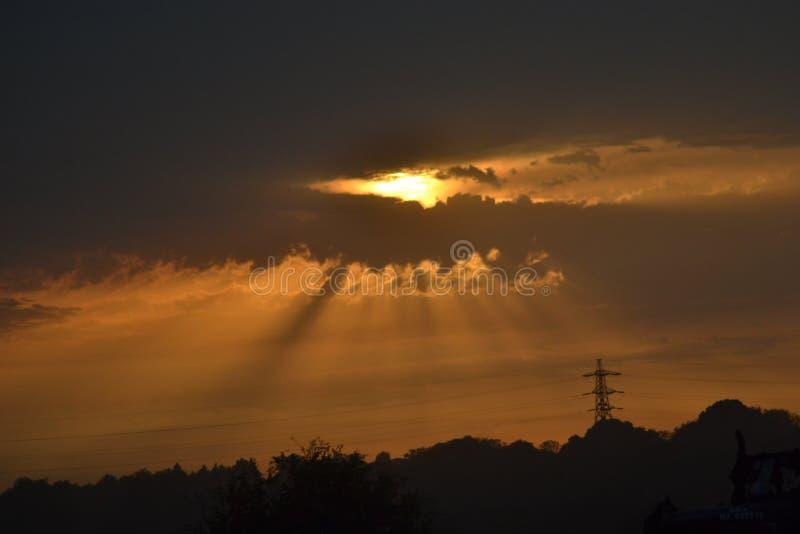 Ligne de ciel photographie stock