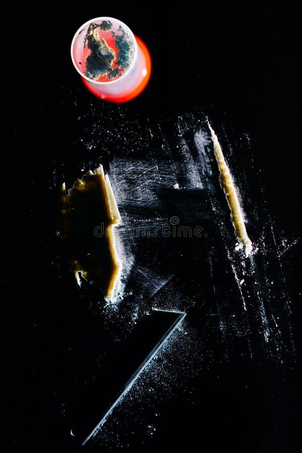 Ligne de cocaïne photo libre de droits