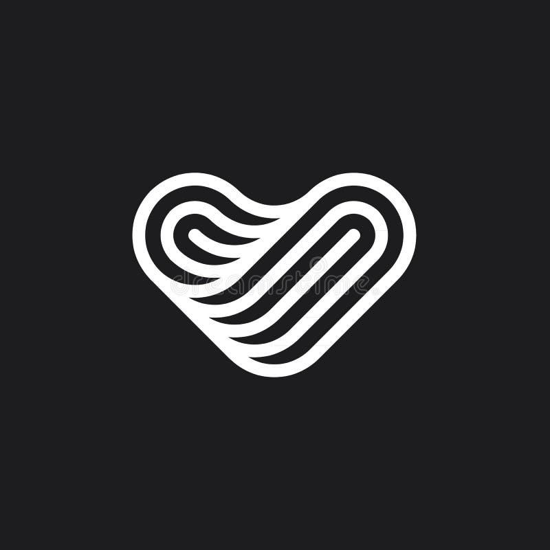 Ligne de coeur marque photos stock