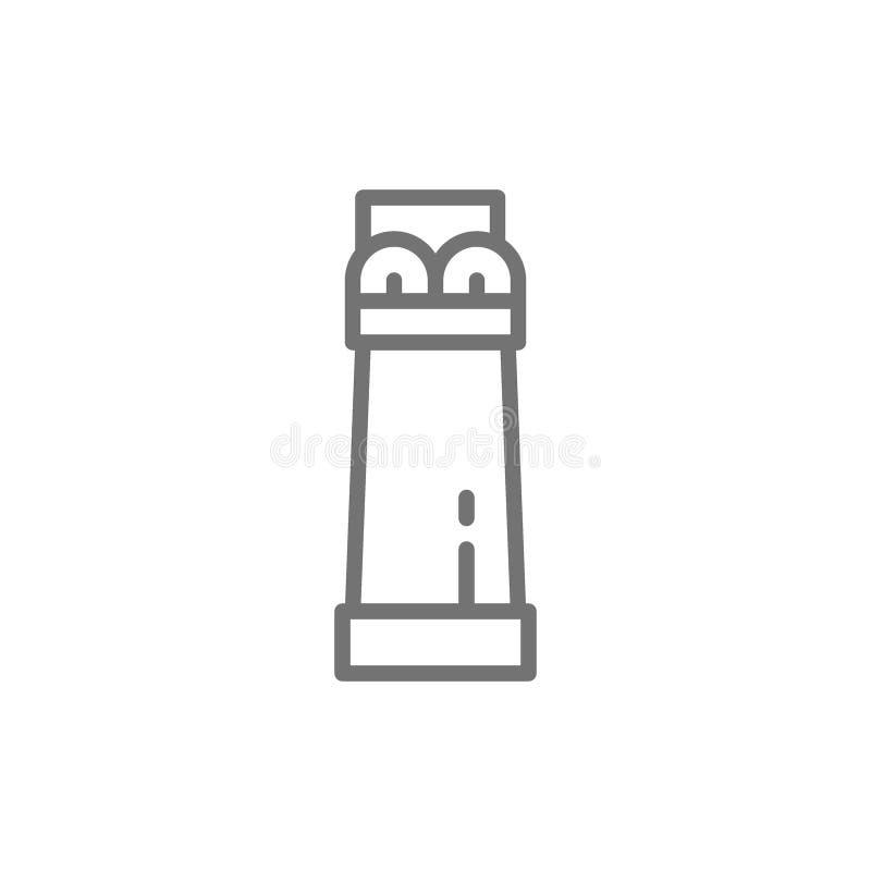 Ligne de colonne égyptienne antique icône illustration libre de droits