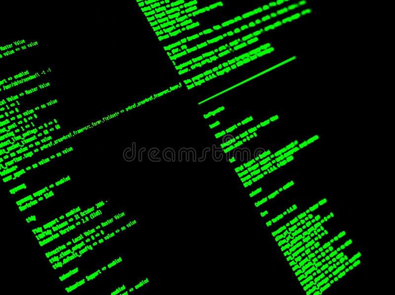 Ligne de commande d'ordinateur interface Cli Coquille de coup d'UNIX, plan rapproché photos stock