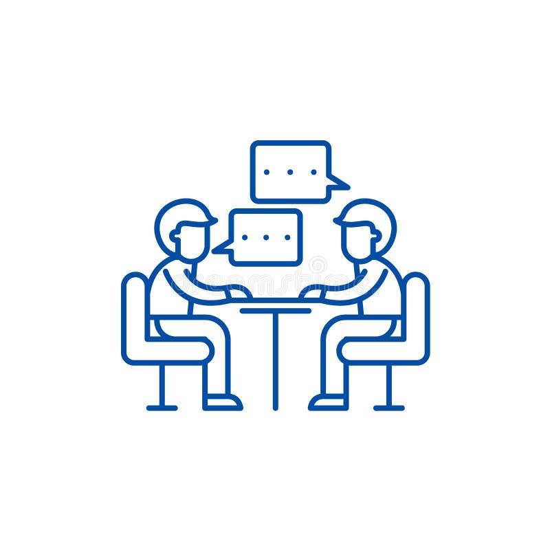 Ligne de consultation concept d'icône Symbole plat de consultation de vecteur, signe, illustration d'ensemble illustration stock