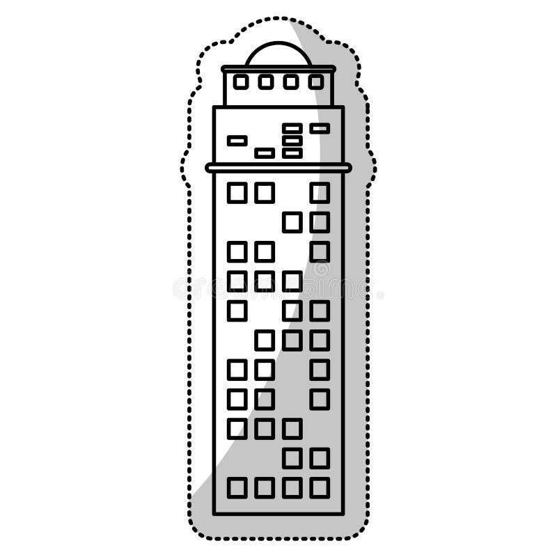 ligne de coupe d'entreprise de façade de bâtiment illustration stock
