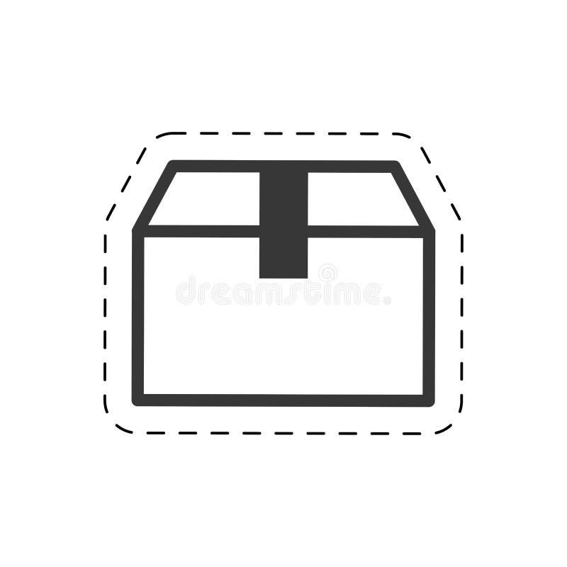 ligne de coupe de cadeau de la livraison de boîte en carton illustration libre de droits