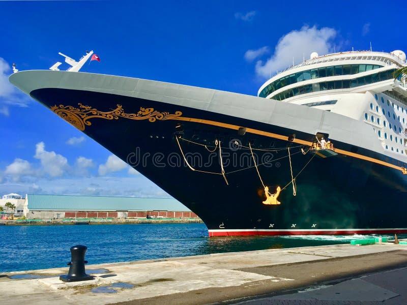 Ligne de croisière de croisières de Disney bateau photographie stock