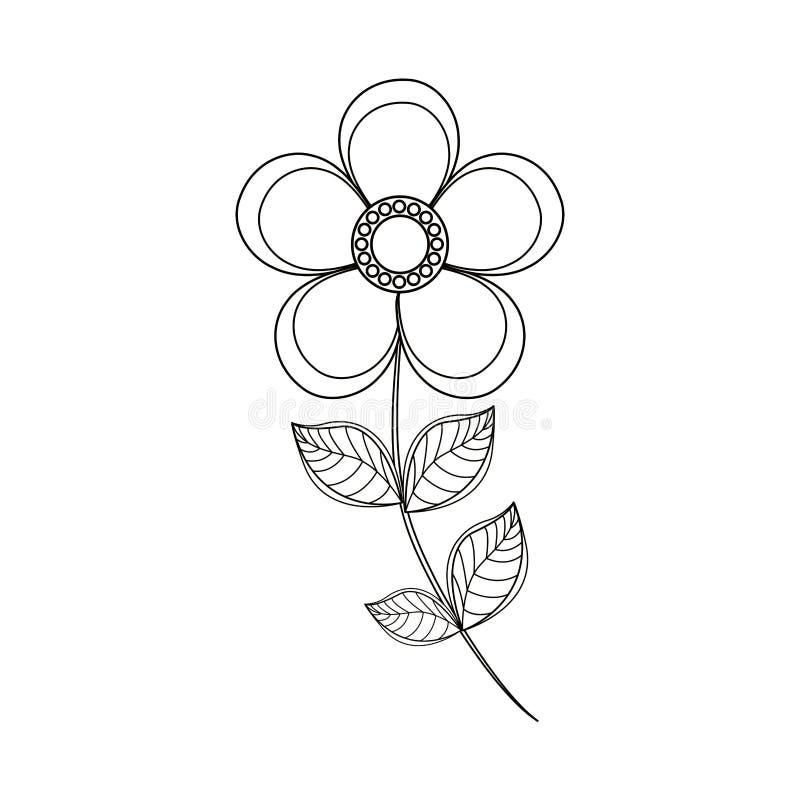 ligne de décoration de fleur de magnolia illustration de vecteur