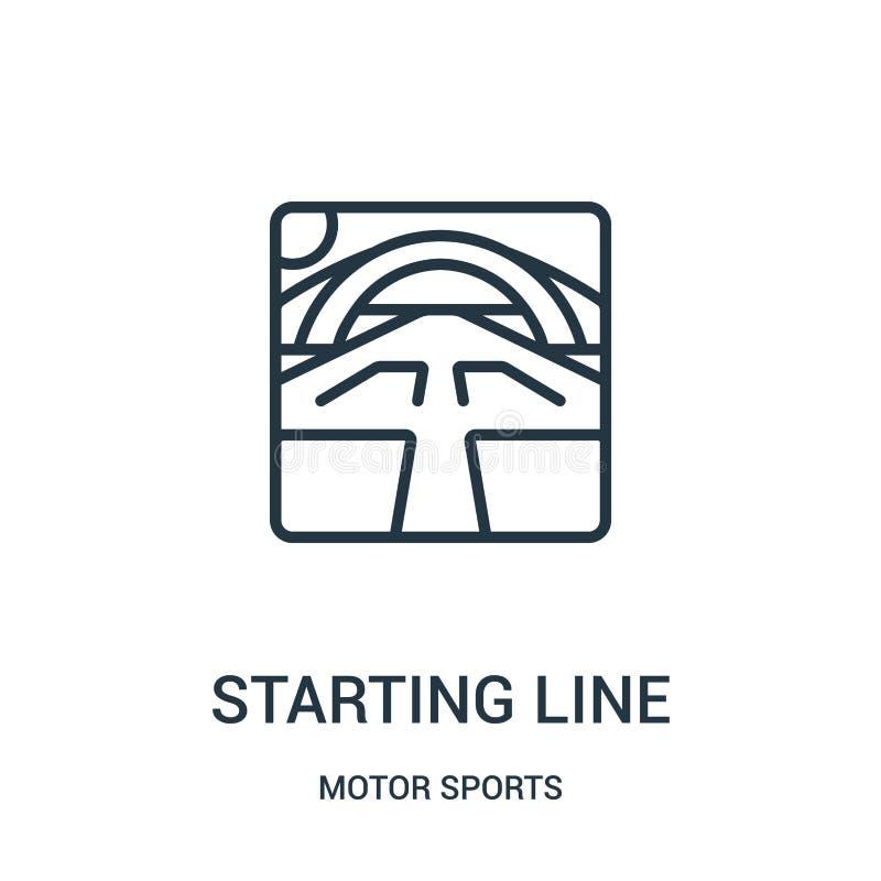 ligne de départ vecteur d'icône de collection de sports automobiles Ligne mince ligne de départ illustration de vecteur d'icône d illustration de vecteur