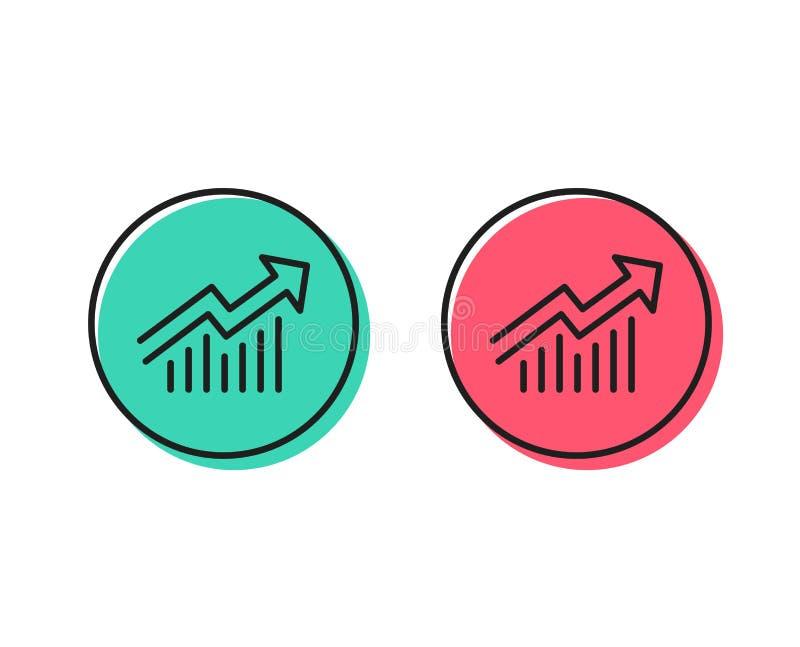 Ligne de diagramme icône Rapportez le signe de graphique Vecteur illustration stock