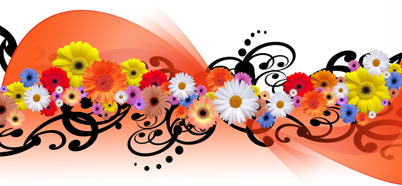 Ligne de fleur illustration stock