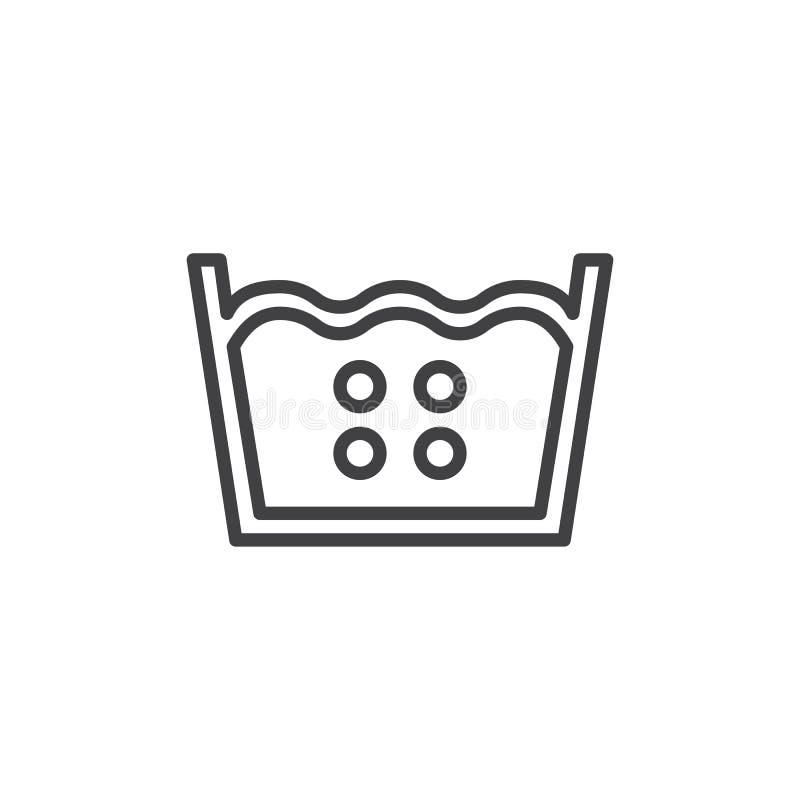 ligne de flottaison de 60 degrés icône illustration de vecteur