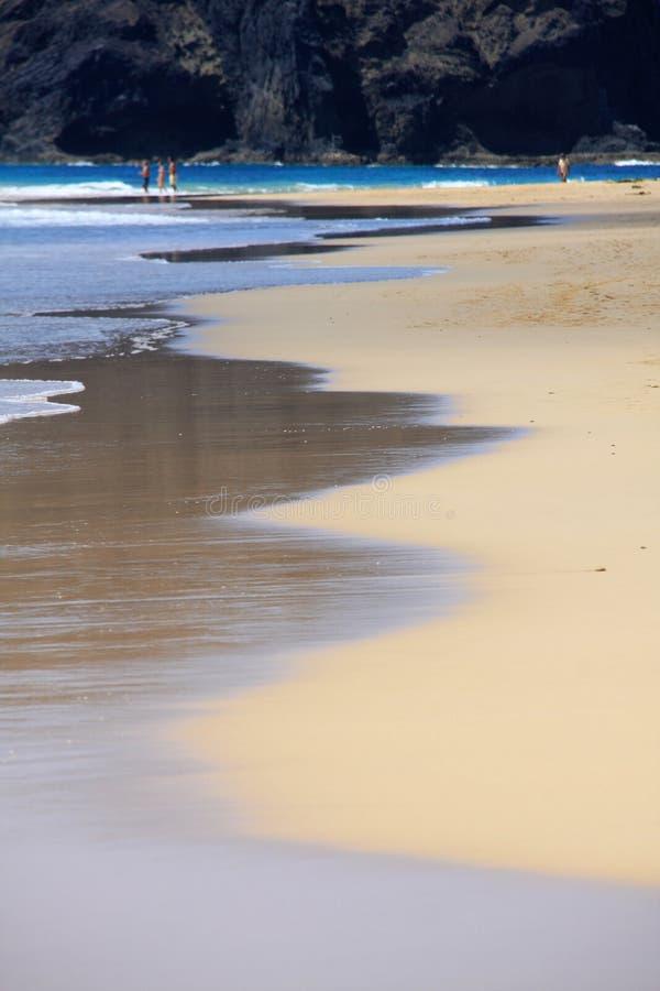 Ligne de flottaison, plage de Porto Santo photos stock
