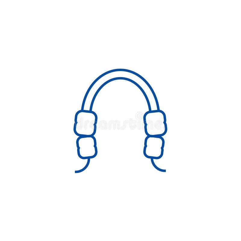Ligne de gomme dentaire concept d'icône Symbole plat de vecteur de gomme dentaire, signe, illustration d'ensemble illustration libre de droits