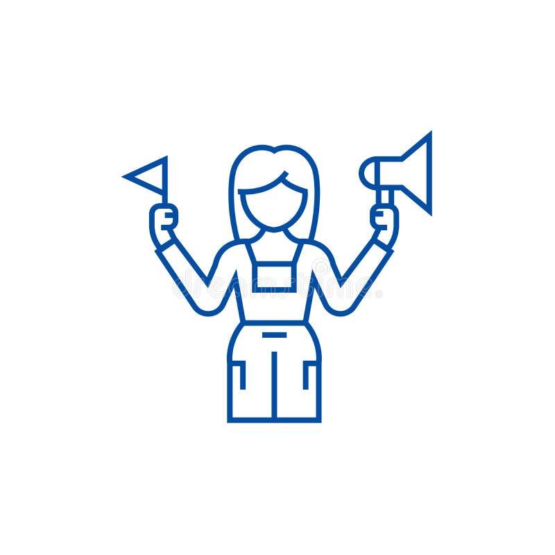 Ligne de guide touristique concept d'icône Symbole plat de vecteur de guide touristique, signe, illustration d'ensemble illustration de vecteur