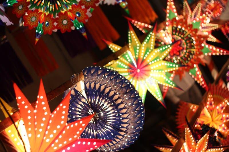 Ligne de lanterne image libre de droits