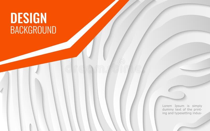 Ligne de livre blanc - texture abstraite fond simple pour la conception de couverture, affiche, insecte avec l'espace pour le tex illustration de vecteur