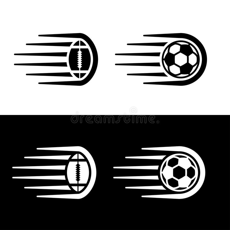 Ligne de mouvement de boule de football américain du football illustration stock
