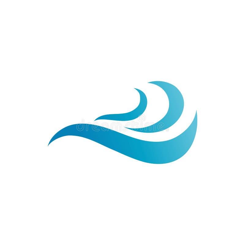 Ligne de nature de symbole de vecteur de Logo Template de vague d'eau illustration de vecteur