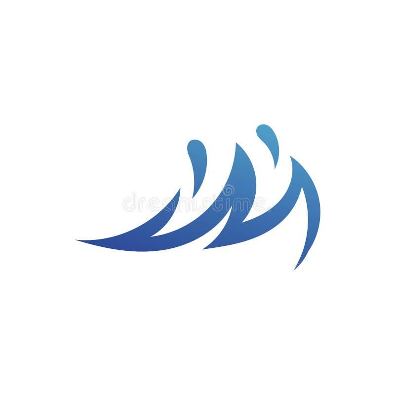 Ligne de nature de symbole de vecteur de Logo Template de vague d'eau illustration stock
