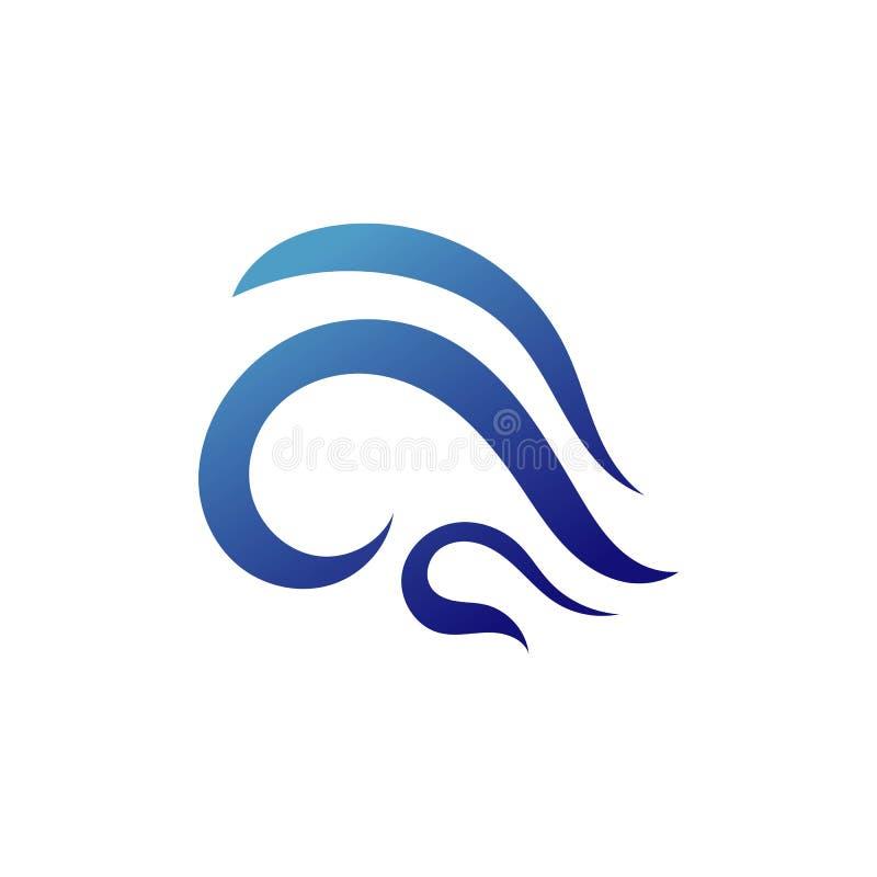 Ligne de nature de symbole de vecteur de Logo Template de vague d'eau illustration libre de droits