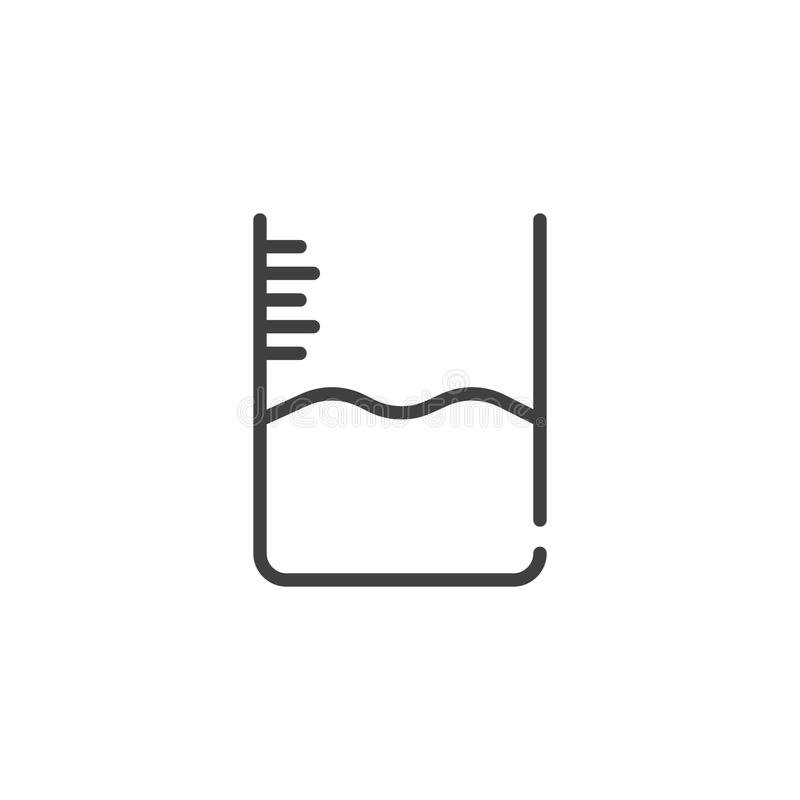 Ligne de niveau icône de l'eau illustration stock