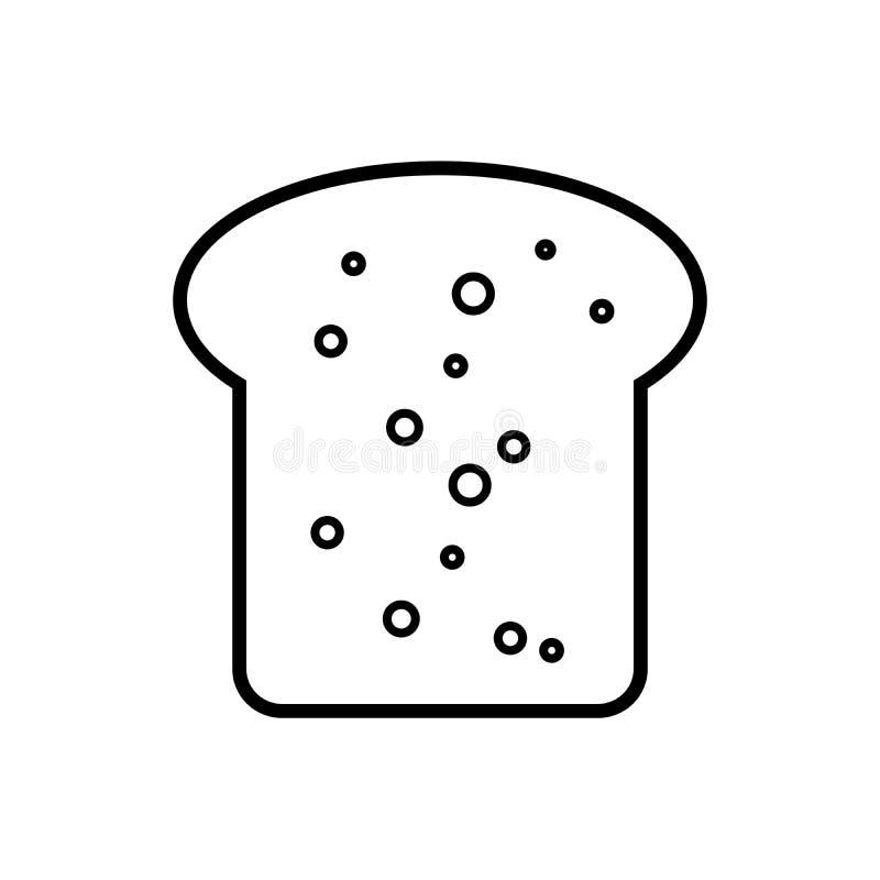 Ligne de pain illustration d'icône d'isolement sur le symbole blanc de signe de vecteur illustration de vecteur