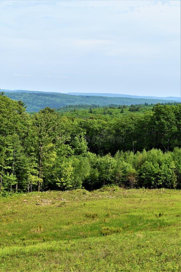 Ligne de partage de réservoir de Quabbin, région rapide de Quabbin River Valley du Massachusetts, Etats-Unis, USA, image libre de droits