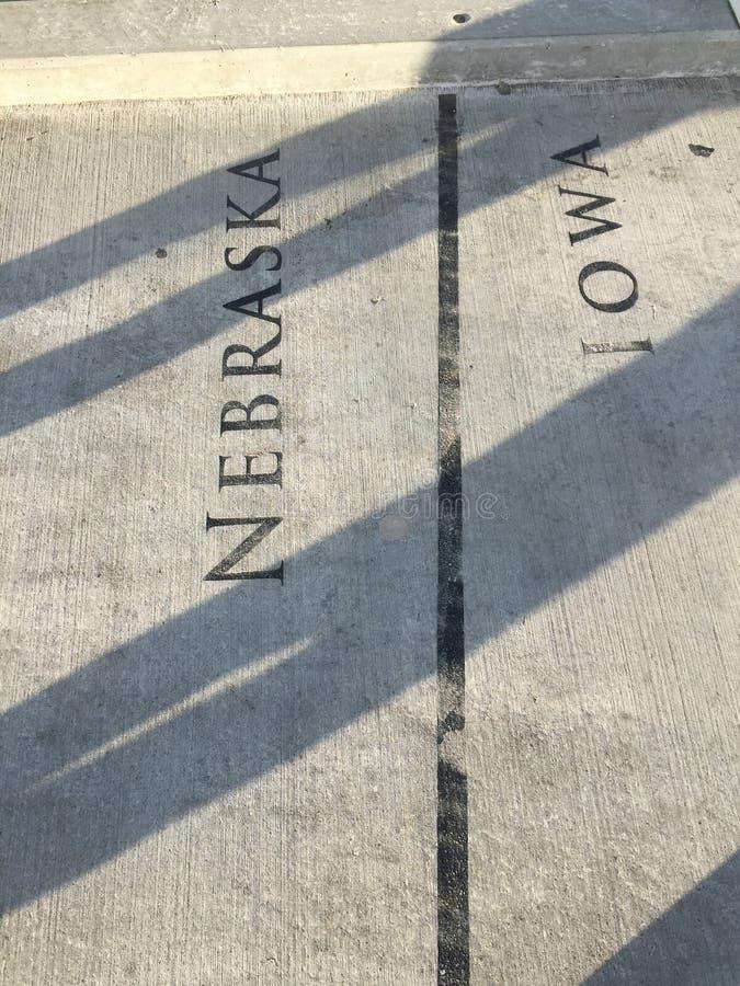 Ligne de pensionnaire du Nébraska Iowa photographie stock