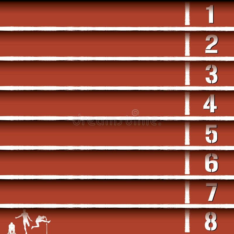Ligne de piste d'athlétisme illustration stock