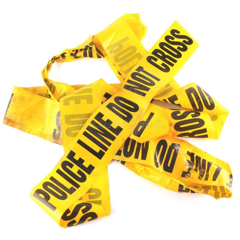 Ligne de police bande images stock