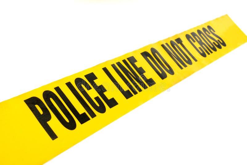 Ligne de police bande de crime photo stock