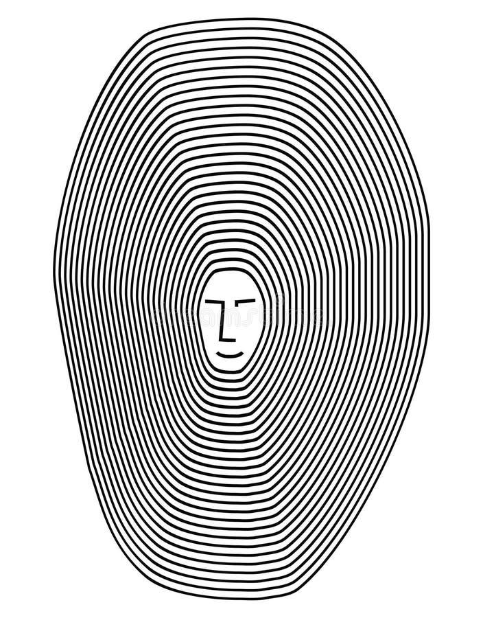 Ligne de psychologie de vecteur illustration de vecteur