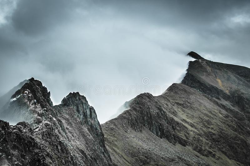 Ligne de Ridge de huche Goch, parc national de Snowdonia photo stock