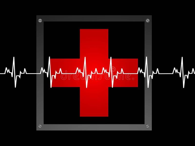 Ligne de sauvetage et signe médical illustration de vecteur