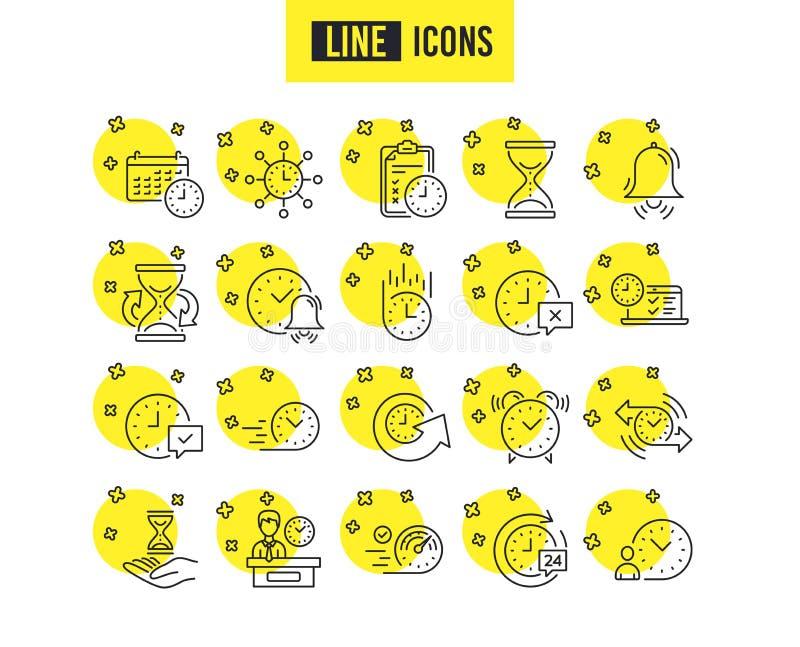 Ligne de temps icônes Ensemble de gestion du temps de calendrier, et de livraison Vecteur illustration stock