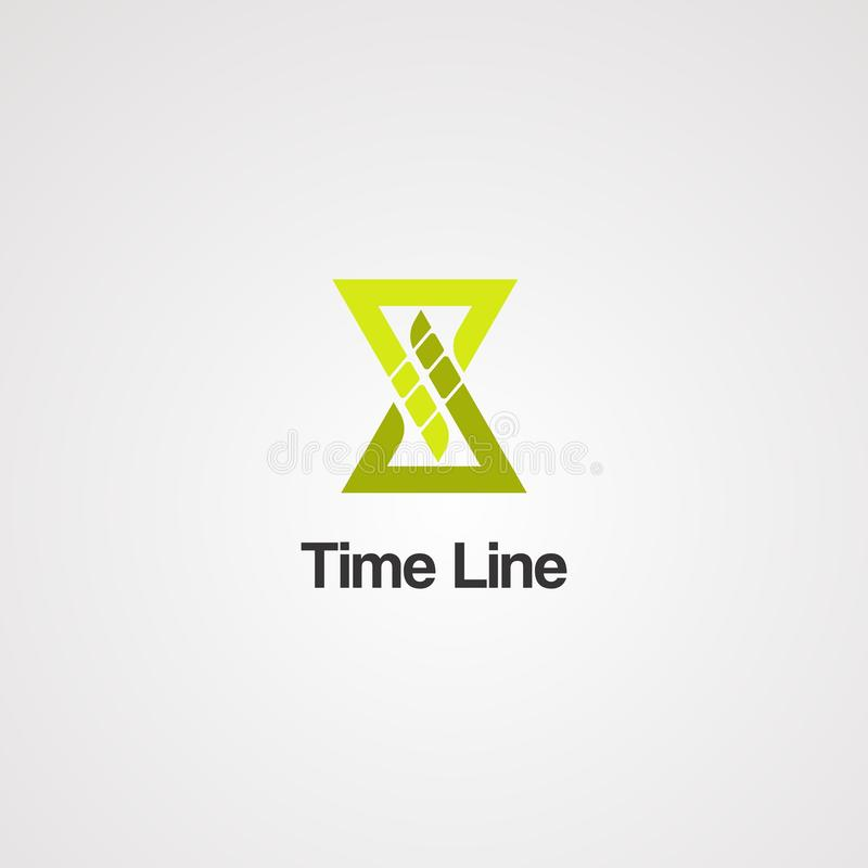 Ligne de temps vecteur, icône, élément, et calibre de logo pour des affaires illustration libre de droits