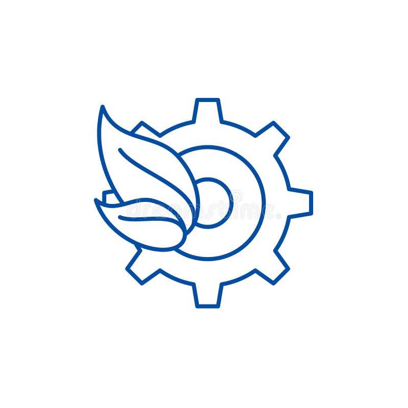 Ligne de tendances d'Eco concept d'icône Eco tend le symbole plat de vecteur, signe, illustration d'ensemble illustration stock