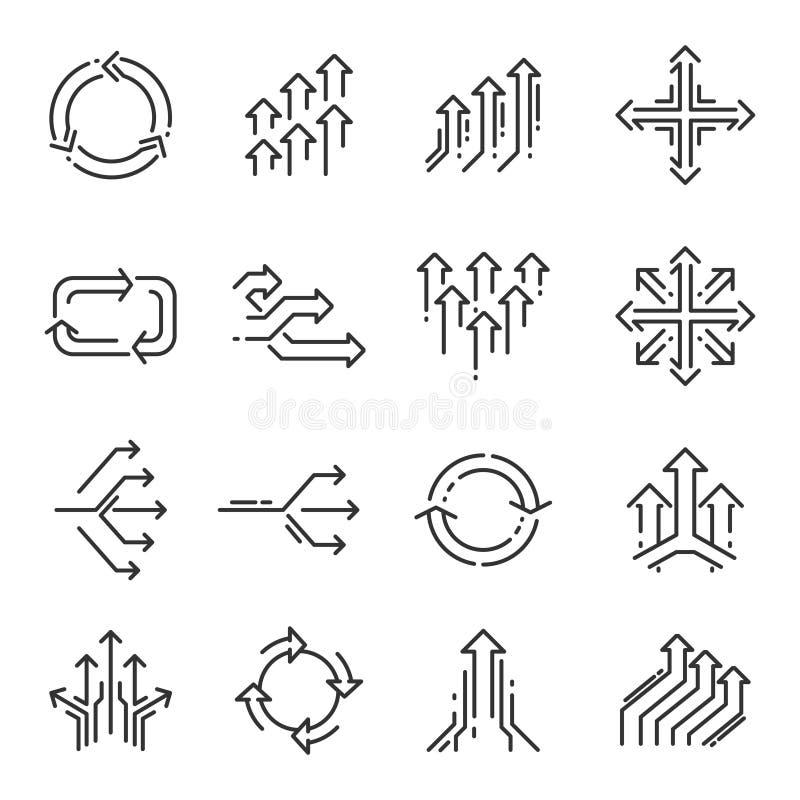 Ligne de transition ensemble d'icône illustration stock