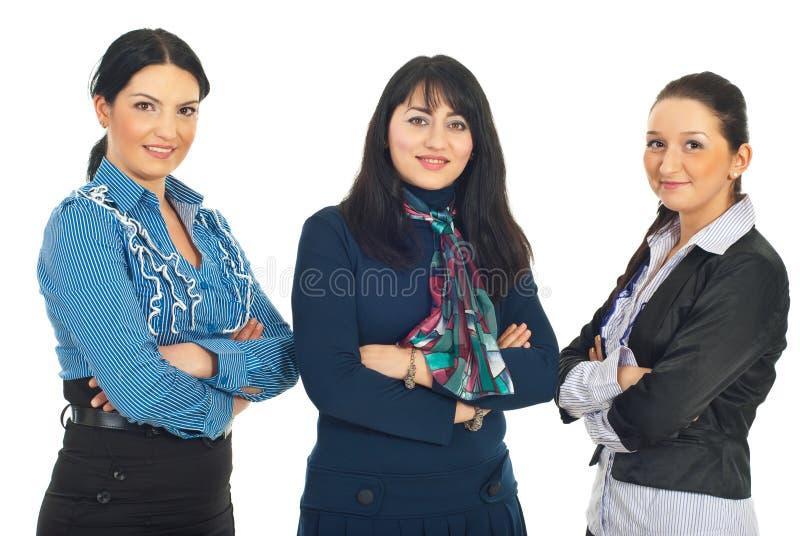 Ligne de trois femmes d'affaires image libre de droits