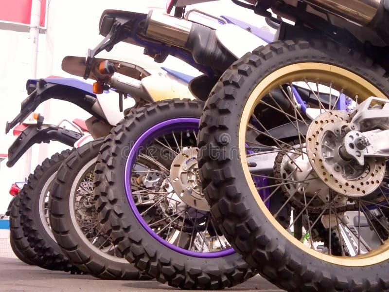 Ligne de vélos photographie stock