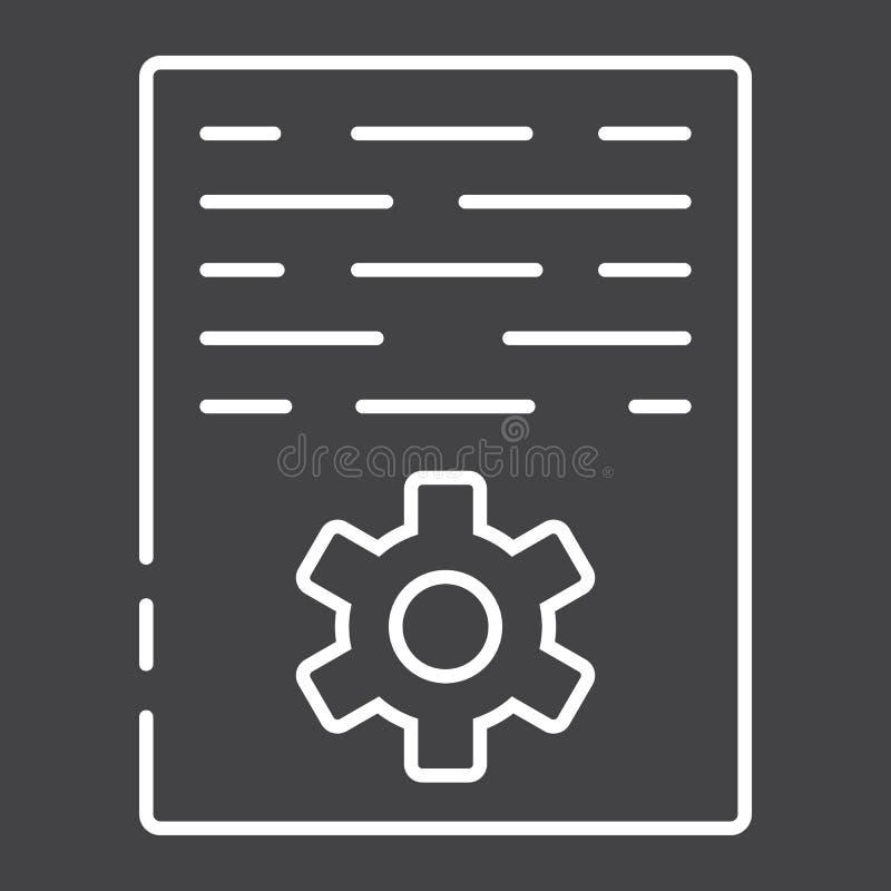 Ligne de vente d'article icône, seo et développement illustration de vecteur
