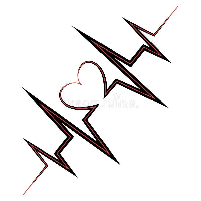 Ligne de vie coeur de symbole illustration de vecteur illustration du artistique cr ateur - Ligne de vie tatouage ...