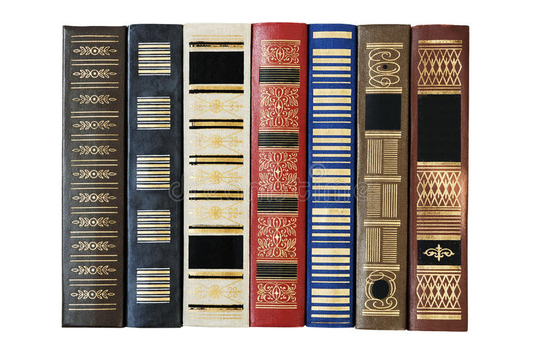 Ligne de vieux livres photographie stock