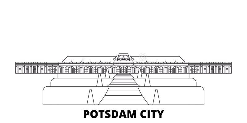 Ligne de ville de l'Allemagne, Potsdam ensemble d'horizon de voyage Illustration de vecteur de ville d'ensemble de ville de l'All illustration de vecteur