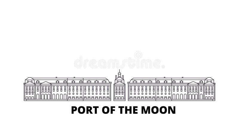 Ligne de ville de la France, Bordeaux ensemble d'horizon de voyage Illustration de vecteur de ville d'ensemble de ville de la Fra illustration libre de droits